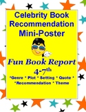 Book Report: Celebrity Poster 4-7 Genre, Plot, Theme, Setting, Character & More