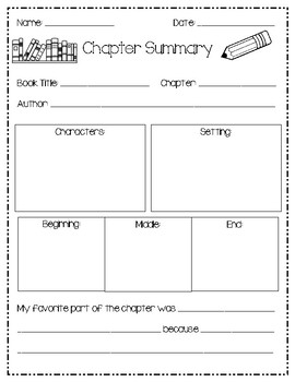 Book Report/ Chapter Summary