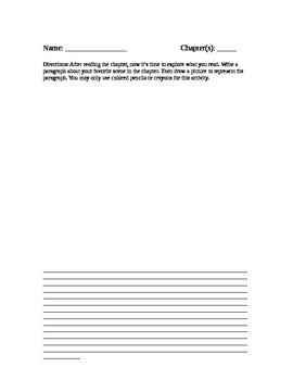 Book Report: Chapter Summary and Illustrations Rubric and Worksheet