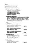 Book Report: Chapter Summary and Illustrations Rubric and