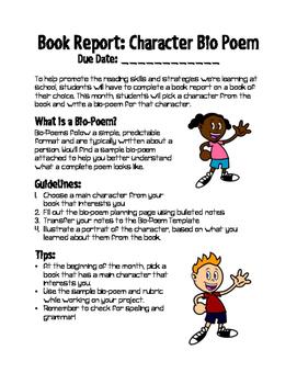 Book Report: Character Bio-Poem
