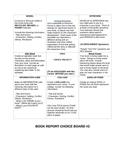 Book Report Choice Board #2