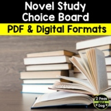 Novel Study Choice Board 9 Activities For Any Novel