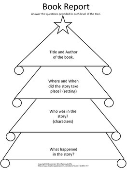 Book Report Christmas Tree
