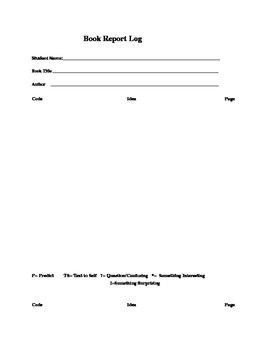 Book Report Coding Log