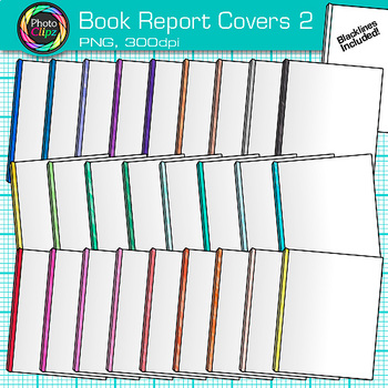 book report cover clip art opaque rainbow school supplies for