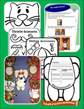 Book Report Cut Out Animals with Cute Personalized Templates