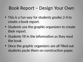 Book Report - Design Your Own