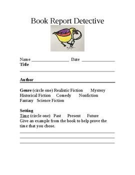 Book Report Detective