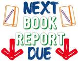 Book Report Due Date Classroom Signage