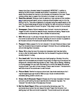 Book Report Examples and Ideas