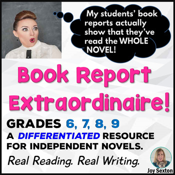 BOOK REPORT Extraordinaire! For Independent Reading 6-9 --Common Core Aligned