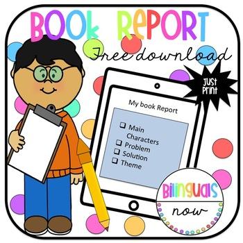 Book Report - FREE Printable