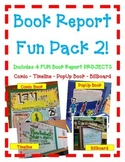 Book Report FUN PACK 2! 4 Projects! Comic-Timeline-PopUp Book- Billboard