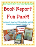 Book Report FUN PACK! 4 Projects! Board Game-Newspaper-Facebook-Cereal Box