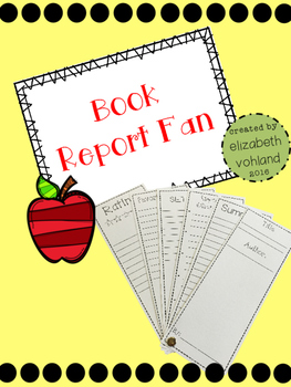 Book Report Fan {FREEBIE}