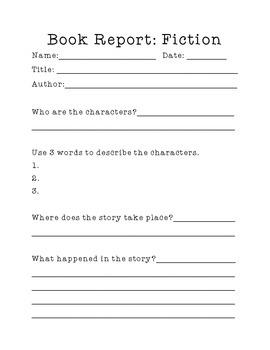 Book Report (Fiction)
