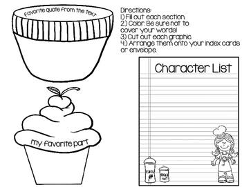 Creative Book Report (Fiction) * Book Project *  Lapbook * Craftivity
