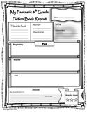 Book Report Fiction and Non-Fiction 4th Grade