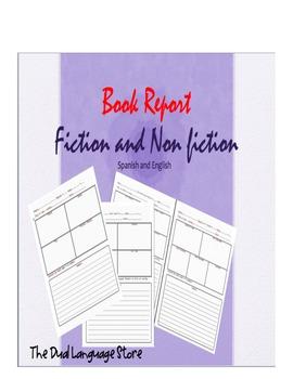 Book Report Fiction and Non fiction Bilingual