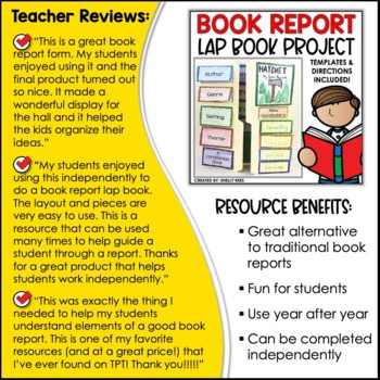 Book Report Flip Flap Lap Book