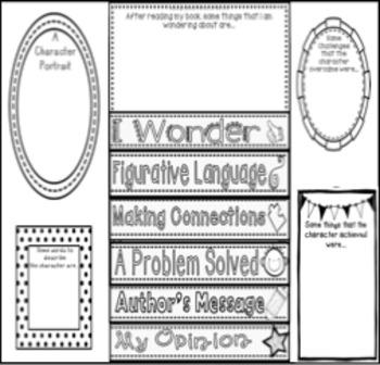 Book Report ~ Flip Book Reading / Text / Novel Responses
