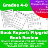 Book Report: Flipgrid Book Review | Grades 4-8 | Distance