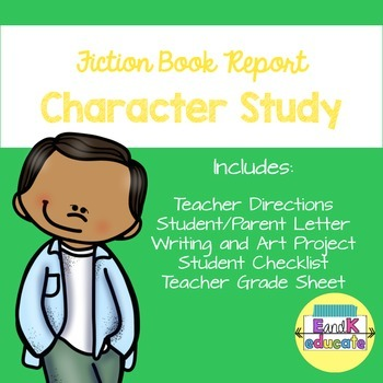 Book Report Focus Character Study