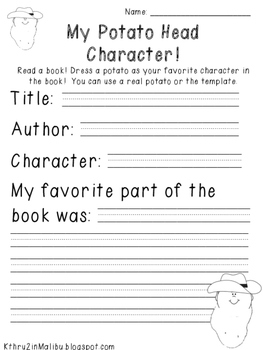 Book Report Forms Fiction and Non Fiction Packet 2-Characters