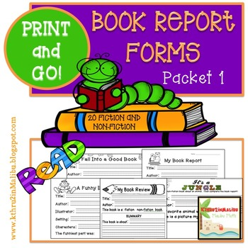 Book Report Forms - The Bundle- Fiction and Non Fiction -Print and Go!