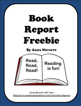 Book Report Freebie!