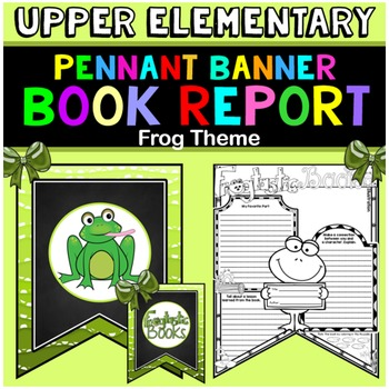Book Report Template: Frog Theme: Book Review Form