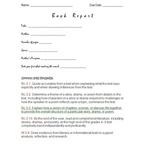 Book Report -- Grade 5 Common Core Standards CCSS