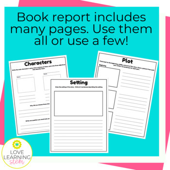 Book Report Reading Comprehension