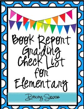 Book Report Grading Check List
