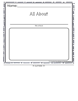 Book Report Graphic Organizer - Story Elements