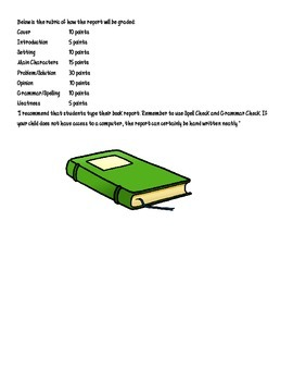 Book Report Guidelines and Rubric