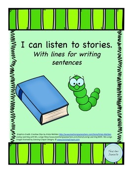 Book Report: I can listen to stories, With lines for writing sentences