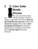 Book Report Idea - Character Hand out