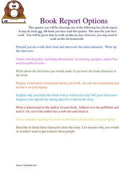 8th grade book report list Fifth – eighth grade summer book report form arma dei academy 2017 choose three major characters and describe them in complete sentences, giving direct.