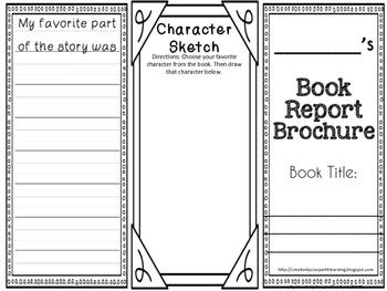 Book Report Interactive Brochure