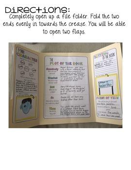 Book Report Interactive Flip Flap Folder