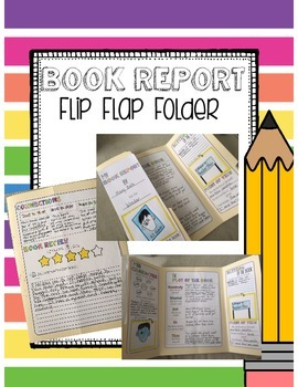 Book Report Interactive Flip Flap Folder