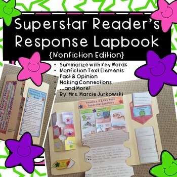 Book Report Lapbook Nonfiction Reading Response Superstar Project