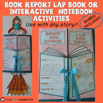 Book Report and Lap Book Report with Theme and Character Traits