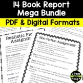 Independent Reading: 15 Book Report Project Bundle