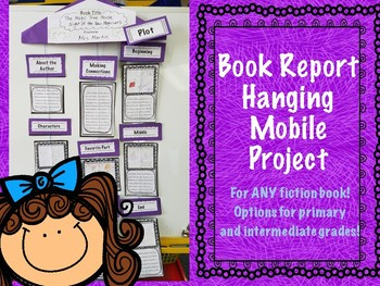 book report mobile project adapted for all grades by classroom