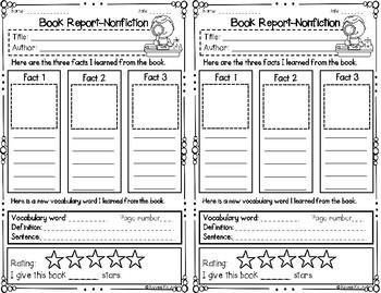 Book Report Nonfiction