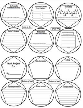 Book Report - Novel Study Ball and Cube Projects