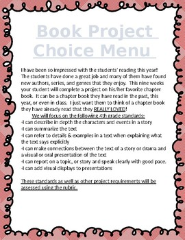 Book Report Options